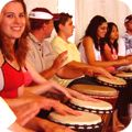 teenagers drumming