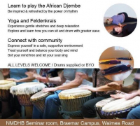 African drum, Feldenkrais and Yoga workshop - 26 May 2019
